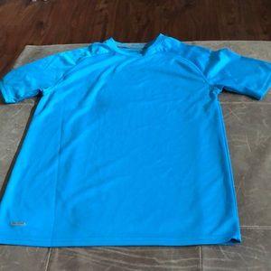 Blue work out shirt